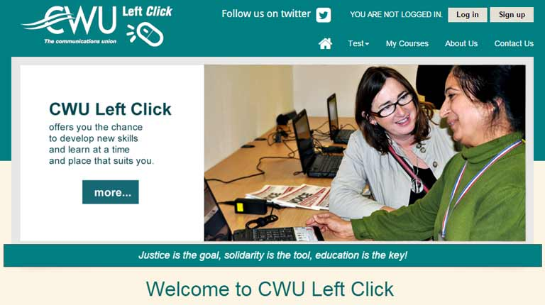 Picture of CWU Left Click website